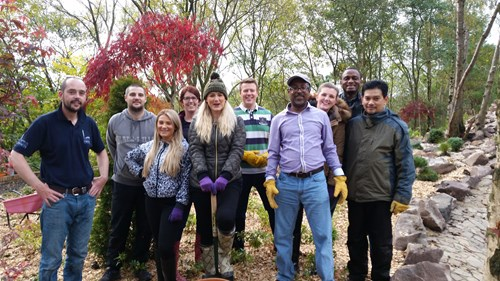 The SSEN team working in the new Japanese Garden at Five Sisters Zoo