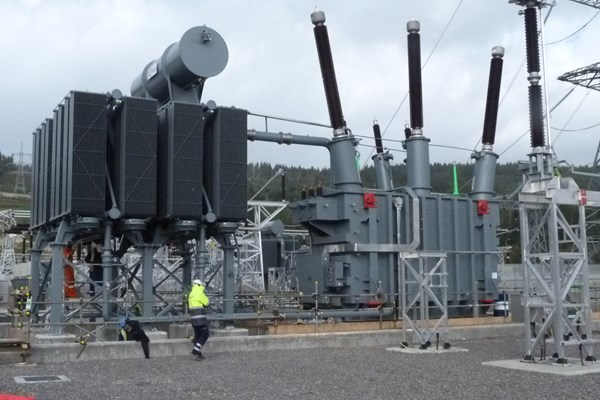 Transformer at Fort Augustus substation