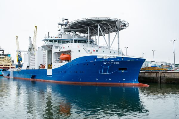 NKT Victoria - cable laying vessel used for SSEN Caithness-Moray project