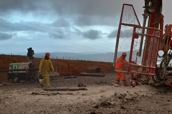 Piling Installation ongoing site wide