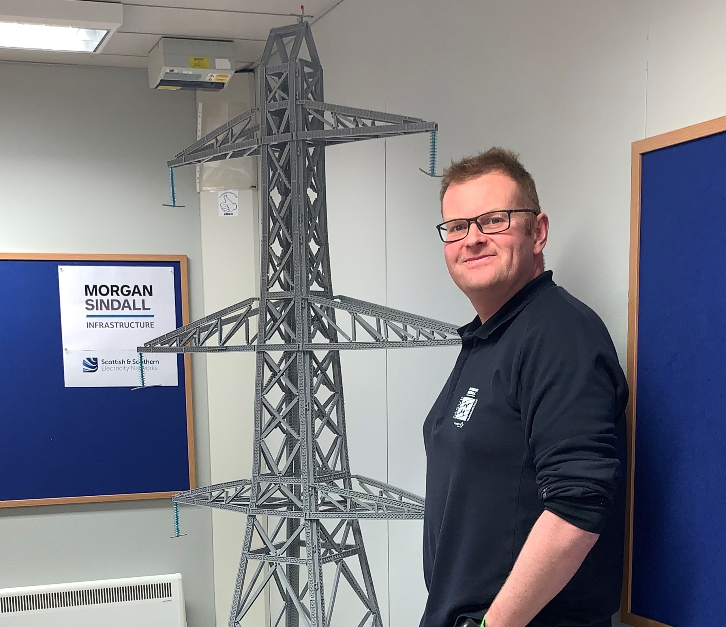 Lego Legend Builds Exact Replica Of Transmission Tower